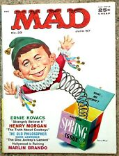 MAD Magazine #33 June 1957! FINE/FINE+! 6.0/6.5! .99 Start! TIGHT! MINT PAGES!