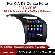 "9.7"" Tesla Style Android Car Stereo GPS For KIA K3 Cerato Forte 2013-2016"