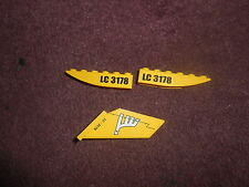 Lego Upverters Curved 1x6 - Yellow x2 with 'LC3178' Sticker PLUS TAIL PEICE