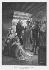 La france arrestation de louis xvi & marie antoinette à varennes-antique print 1896