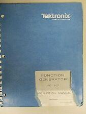 Tektronix Function Generator Fg 501 Instruction Manual 070 1431 01