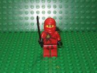 LEGO Ninjago KAI Minifigure Red Ninja With Sword Original RETIRED K2