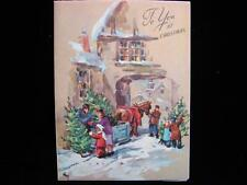 "VINTAGE ""PICKING OUT THE TREE!!"" CHRISTMAS GREETING CARD"