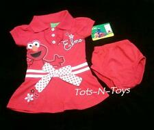 NEW Sesame Street Infant Baby ELMO Dress & Bloomers Set 6 9 12 Month 2 Piece Lot