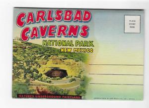 VINTAGE-POSTCARD FOLDER-CARLSBAD CAVERNS NATIONAL PARK-NEW MEXICO