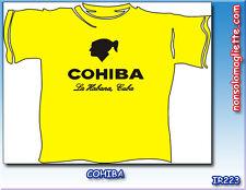 T-SHIRT MAGLIETTA CAMISETA SIGARI COHIBA Cigar La Habana Cuba Idea Regalo
