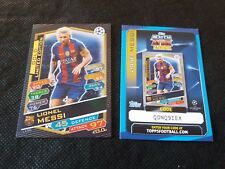 MESSI MATCH ATTAX CHAMPIONS LEAGUE 2016 2017 LIMITED GOLD + CODE NORDIC EDITION