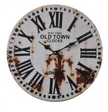 Wanduhr Küchenuhr Metall Retro Antik Design Uhr 40 cm