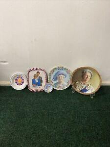 Collection Of Royal Family Memorabilia (Plates, Ashtray & Tin)