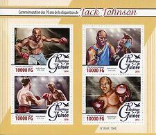 Guinée 2016 neuf sans charnière jack johnson 70th memorial anniv 4v m/s boxe sports timbres