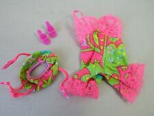 Vintage 1968-69 Mattel Barbie UNDERLINERS Doll Outfit #1821 Teddy Garter Shoes