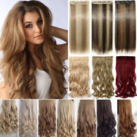 100% Real Hair Clip in Full Head As Remy Human Hair Extensions Extentions F5i
