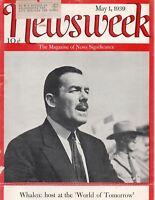 Newsweek Magazine May 1 1939
