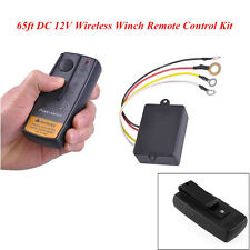 Car SUV Pickup 65ft DC 12V Wireless Winch Remote Control Kit Switch Handset New
