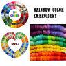 55/105PCS Rainbow Color Embroidery Cross Stitch Threads Bracelets Crafts Floss