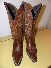 WOMENS BEAUTIFUL ARMADILLO EXOTIC COWBOY BOOTS POINTY SIZE 7.5M CUSTOM MADE USA