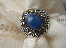 Carolyn Pollack 925 SS Southwest   Size 6  Lovely Blue Lapis What Color!