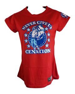John Cena Red Persevere Womens WWE T-Shirt New