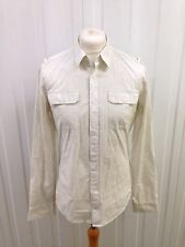 Mens Calvin Klein Jeans Shirt - Large - White - Roll Sleeved - Great Condition
