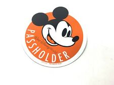 Mickey Mouse Walt Disney World Annual Passholder Orange Car Magnet