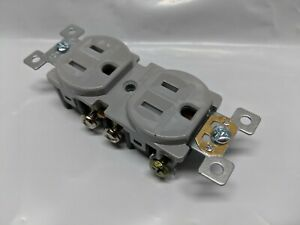 10 pc 15A Tamper Resistant Standard Duplex Receptacles 15 Amp TR Outlets GRAY