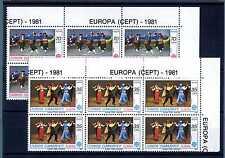 TURKEY - TURCHIA - 1981 - Europa CEPT. Blocco di sei E4586