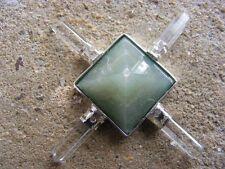 Green aventurine 4 point quartz crystal generator, healing, spirit,heart chakra