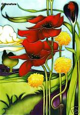 Moorcroft Card - SONG OF THE WIND - Designer E Bossons