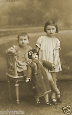 Reproduction Tirage photo ancienne - Enfants & Poupée SFBJ marcheuse 10x15cm