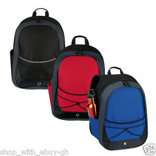 30 L Sports Gym Bag Elasticated Football Backpack Travel Work School Hiking UK