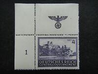 Germany Nazi 1943 1944 Stamp MNH Tyniec Monastery Vistula River Swastika Eagle G