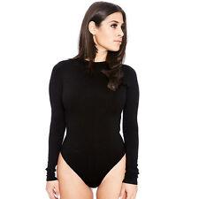 Sexy Women Long Sleeve Shirt Jumpsuit Bodysuit Stretch Leotard Blouse 13 Colors