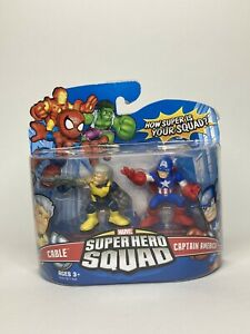 Marvel Super Hero Squad Series 6 Cable & Captain America Action Figure 2-Pack