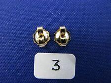 14K Gold  Friction Pushback Push Back Earrings Backs  (1 Pair)  item #3