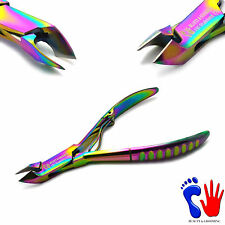 Titanium Podiatry Cuticle Clippers Manicure Fingernail Trimmer Ingrown Remover