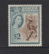 North Borneo - 1961, $2 Marron & Ardoise, Calao Oiseau Tampon - M/M - Sg 404