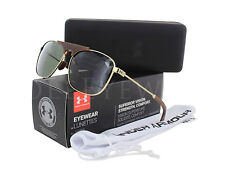 NEW Under Armour Rally Shiny Gold Dark Brown / Gameday 8600100 942030 Sunglasses