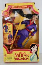 MIB Disney's Secret Hero Mulan Doll 1997 Mattel 18896
