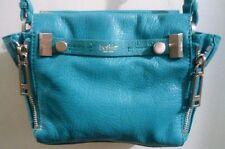 BOTKIER Leroy Crossbody Handbag in Turquoise Blue Leather