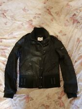 womens real leather jacket size 12 (medium) brand - only