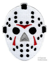 EMBROIDERED HOCKEY GOALIE MASK IRON-ON PATCH Friday the 13th JASON HALLOWEEN new