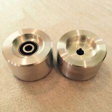 """Belt Grinder Knife Grinder wheel 4"""" Drive Wheel (5/8"""" Bore)  , 4"""" tracking Wheel"""