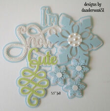 Winter Die Cuts Paper Piecing Set PreMade Border Scrapbook Album danderson651