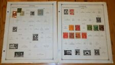 Australia 1913-1930 & Antigua 1863-1903 Stamps on Album Pages ~15 Stamps
