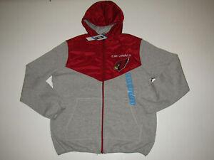 NFL Arizona Cardinals Red Gray Hoodie Full Zip Fleece Jacket NWT Mens Size XXL