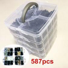 587Pcs Mixed Universal Plastic Car Fender Rivets Panel Clip Screw Fastener