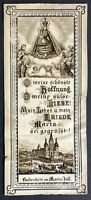 Mariazell Pilgrimage Old Devotional Picture Holy Icon Austria Steiermark M-3537