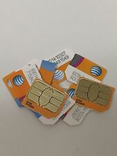 Lot of 10 At&T Wireless Micro Sim Card Chips