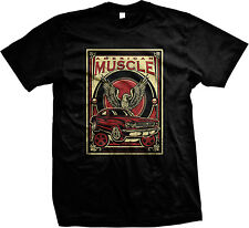 American Muscle Eagle Car Racing Speed Vintage Hotrod Mens T-shirt