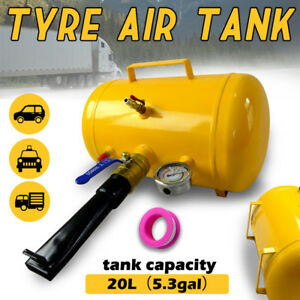 5 Gallon / 20L Air Tank Bead Seater Tyre / Tire Inflator Blaster Car ATV Truck